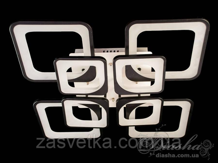 Сверхъяркая светодиодная люстра, 165W 8060/4+4BK (черная,белая)
