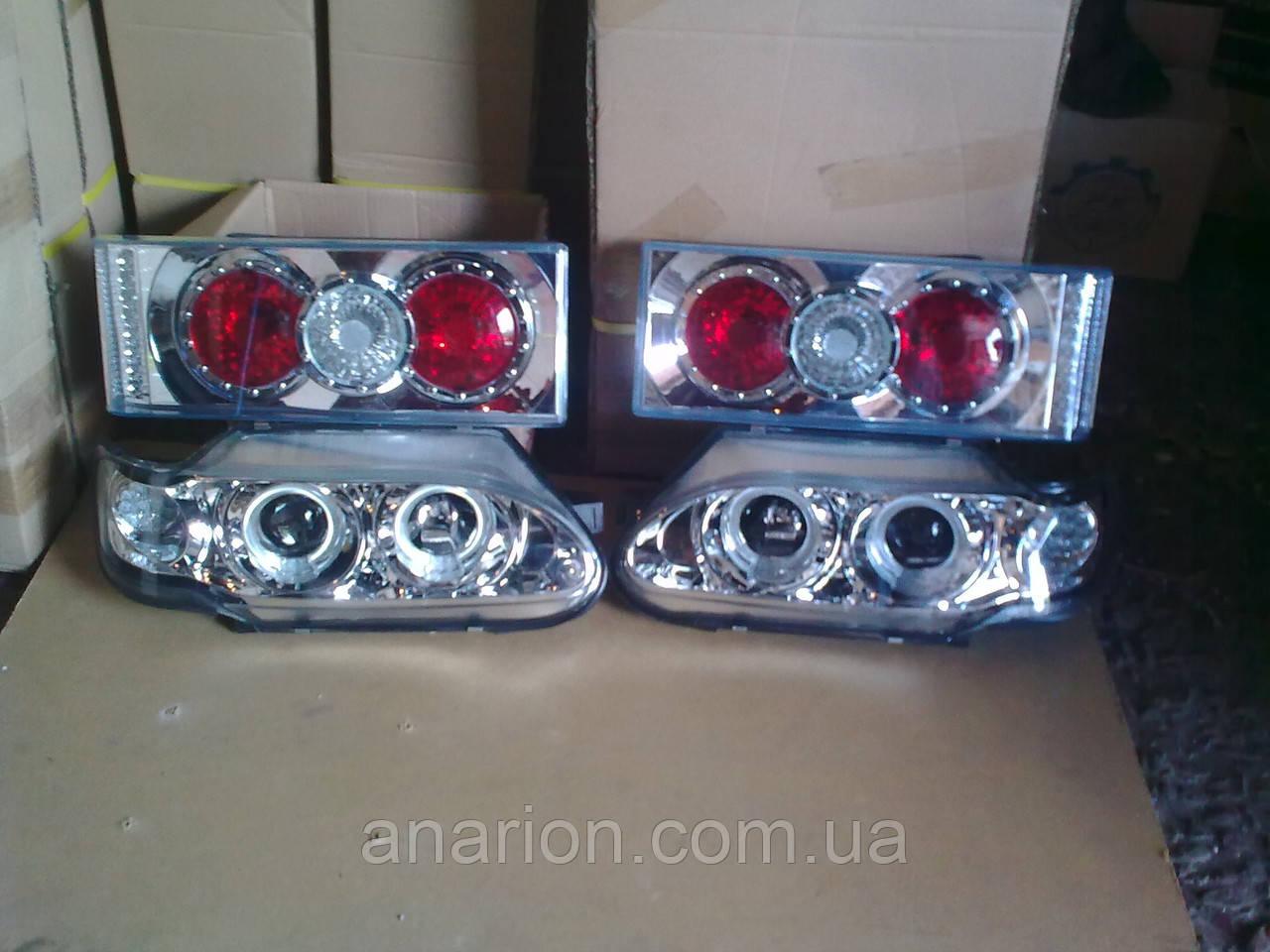 Передние фары Ангельские глазки + задние фонари на ВАЗ 2114 №3