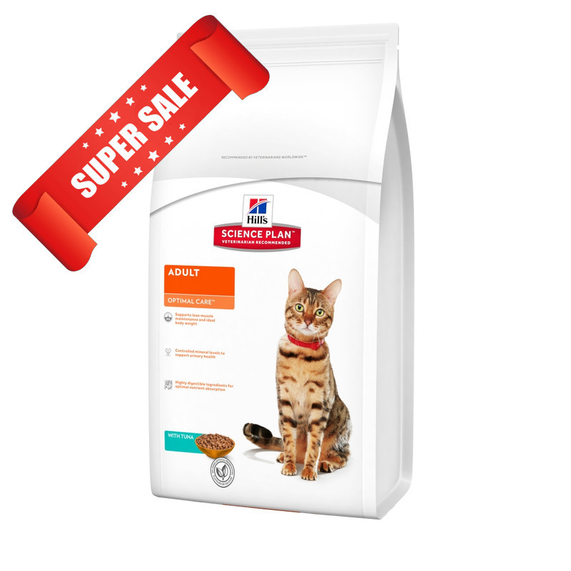 Сухой корм для котов Hill's Science Plan Feline Adult Optimal Care Tuna 10 кг
