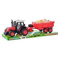 Детская игрушка Трактор 4007 B 8 инерционный, с прицепом и животными