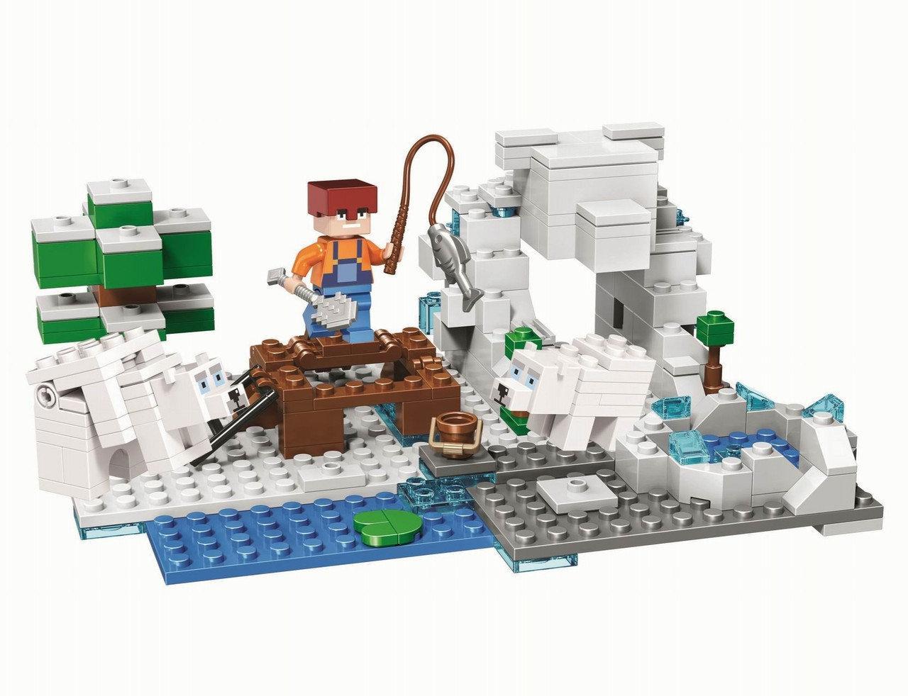 """Конструктор Bela 10960 (Аналог Lego Minecraft) """"Зимняя рыбалка"""" 215 деталей"""