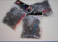 Набор резинок для плетения Loom Bands (160шт + маленький крючок) - серый