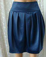 Юбка женская легкая модная синяя тюльпан мини бренд Lipsy р.46, фото 1