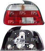 Фонарь задний для BMW5 E39 '96-03 левый (HELLA) красно-белый, Led габарит