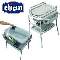 2 в 1 Ванночка + пеленальный столик Chicco Cuddle & Bubble Silver