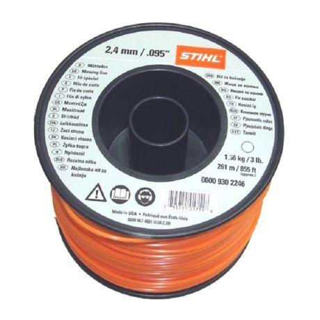 Косильная струна STIHL, 2,4 мм х 261 м, круглая (00009302246)