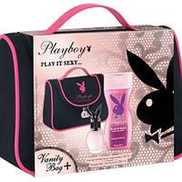 Женский набор Playboy «PLAY IT SEXY» туалетная вода 75 мл + гель для душа 250 мл в косметичке