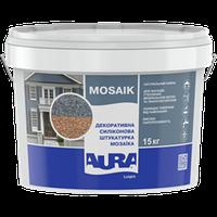 Декоративная штукатурка Aura Luxpro Mosaik М10 (зерно 1мм), 15 кг