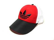 Бейсболка Adidas сетка (Black & Red)