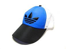 Бейсболка Adidas сетка (Black & Blue)