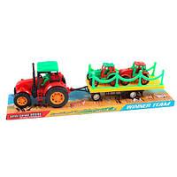 Детская игрушка Трактор 289-27  инерционный с прицепом