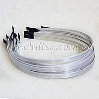 Ободок для волос с белой атласной лентой, 6 мм