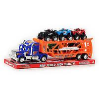 Детская игрушка Трейлер 237-6  инерционный с машинками