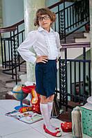 Качественная белая блузка для девочки  226, фото 1