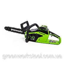 Цепная пила аккумуляторная Greenworks 40 В  GD40CS15K6 ( CSF403 ) в комплекте с зарядн. устр-м и  аккум. 6 А