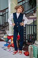 Костюм в школу для девочки: жилет и брюки 623 от украинского производителя