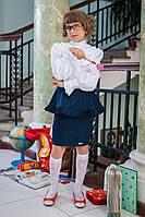 Детская школьная форма: юбка для девочки 517 с баской, фото 1