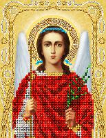 """Схема для вышивки бисером на атласе икона """"Ангел Хранитель"""" (золото)"""