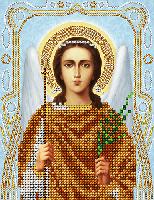 """Схема для вышивки бисером на атласе икона """"Ангел Хранитель"""" (серебро)"""