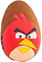 """Расписной пряник ручной работы - """"angry birds красный"""""""