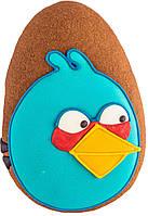 """Расписной пряник ручной работы - """"angry birds синий"""""""