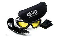 Защитные спортивные очки Global Vision Shorty 24 KIT c желтыми фотохромными линзами, фото 1