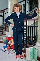 Модный школьный костюм на девочку 622 Синий и Черный, фото 1