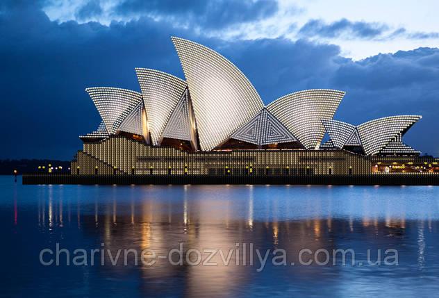 """Схема для вышивки бисером на атласе (пейзаж) """"Сиднейская опера"""", фото 2"""