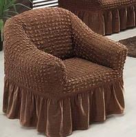 Чехол на кресло Arya Burumcuk коричневый