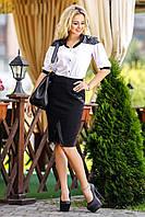 Эффектная женская блузка с короткими рукавами, фото 1