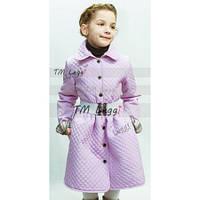 Детское стеганное пальто-тюльпан