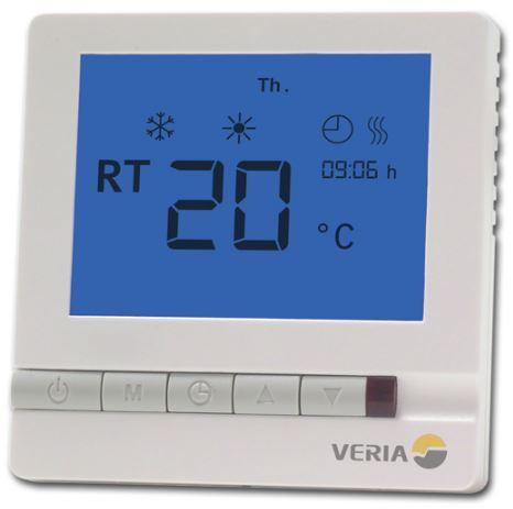 Программируемый терморегулятор Veria Control T45, 5-45°C, 13 A, 85-240В, с датчиком пола и воздуха