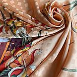 Дуновение 884-16, павлопосадский платок (жаккард) шелковый с подрубкой, фото 10