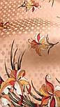 Дуновение 884-16, павлопосадский платок (жаккард) шелковый с подрубкой, фото 7