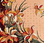 Дуновение 884-16, павлопосадский платок (жаккард) шелковый с подрубкой, фото 4