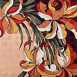 Дуновение 884-16, павлопосадский платок (жаккард) шелковый с подрубкой, фото 3