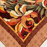 Дуновение 884-16, павлопосадский платок (жаккард) шелковый с подрубкой, фото 9