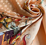 Дуновение 884-16, павлопосадский платок (жаккард) шелковый с подрубкой, фото 5