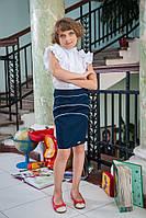 Классическая школьная юбка для девочки 519 опт и розница, фото 1