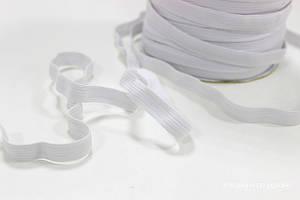 Тесьма эластичная 12 мм, белая (резинка)