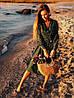 """Платье на запах """"Лилия"""" с принтом горошек, есть карманы, длинный рукав  278-613, фото 8"""