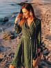 """Платье на запах """"Лилия"""" с принтом горошек, есть карманы, длинный рукав  278-613, фото 9"""