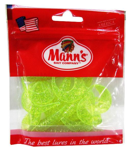 Twister Mann's M-038 70mm салатовый прозрачный с блестками (MFCH) 5шт./уп