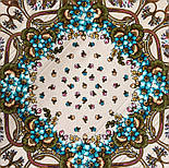 Именинница 1446-1, павлопосадский платок шерстяной (с просновками) с шелковой бахромой, фото 5