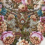 Именинница 1446-1, павлопосадский платок шерстяной (с просновками) с шелковой бахромой, фото 9