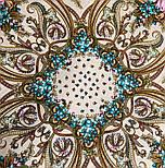 Именинница 1446-1, павлопосадский платок шерстяной (с просновками) с шелковой бахромой, фото 8