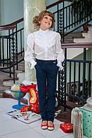 Школьная форма: модные брюки для девочки 516