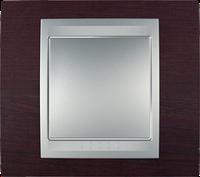 Рамка 1 пост. Unica Top венге/алюминий MGU66.002.0M3