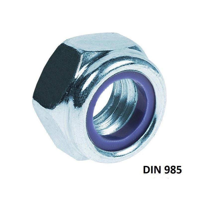 DIN 985 Гайка самоконтрящаяся Оцинкованная Класс 10.9 (Размеры в ОПИСАНИИ)