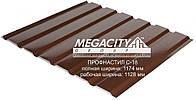 Профнастил стеновой С-18 0,4 мм (цвет 8017 - коричневый, глянец) металл Китай 0.4 мм